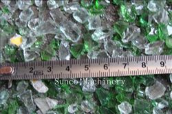 Glass pieces out of Glass Crusher, Glass Bottle Crusher, Glass Crushing Machine