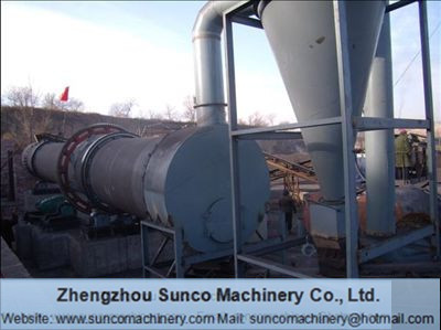 Induced draught fan for the rotary dryer, rotary drum dryer