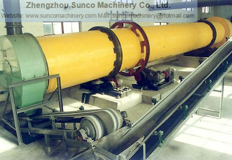Belt Conveyor at the end of the rotary drum dryer system