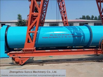 Rotary Drum Dryer for drying wood chips