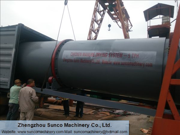 Saudi Arabia Chicken Manure Dryer, Organic Fertilizer Production Line, Poultry manure dryer