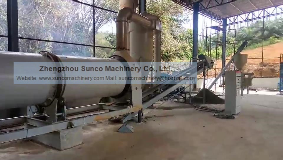 Malaysia Chicken Manure Dryer, Poultry Manure Drying Machine, rotary dryer for chicken litter