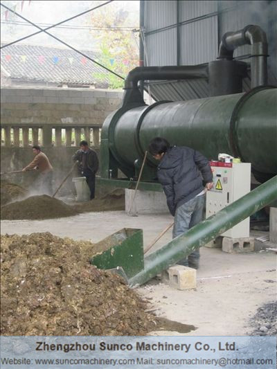 Organic Manure Fertilizer drying machine, chicken manure dryer machine
